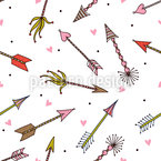Cupids Arrows Seamless Vector Pattern