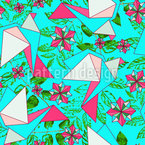 Origami Birds In Paradise Seamless Vector Pattern Design