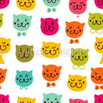 Meow Meow Seamless Vector Pattern Design