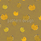 Chick Party Seamless Vector Pattern