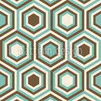 Retro Honeycombs Seamless Vector Pattern Design