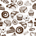 Sweet Pastry Seamless Vector Pattern Design
