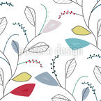 Leaf Traces Of Spring Seamless Vector Pattern Design