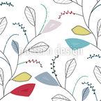 Vestígios de folha da primavera Design de padrão vetorial sem costura