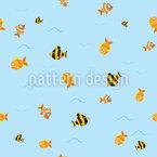 Fisch Wege Nahtloses Vektormuster