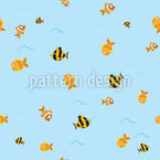 Fish Migration Seamless Vector Pattern Design