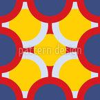Kreise Verdecken Die Sonne Nahtloses Vektormuster