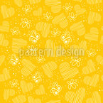 Butterflies and hearts on the Sun Seamless Vector Pattern Design