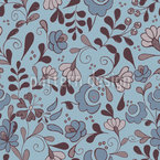 Folklore Blumen Nostalgie Nahtloses Vektormuster