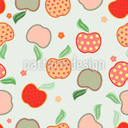 Tasty Apple Patchwork Pattern Design