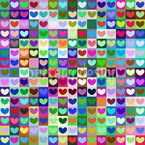 Heart Nations Seamless Vector Pattern Design
