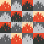 City Patchwork Seamless Vector Pattern Design