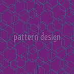 Hexagon Wahnsinn Nahtloses Vektormuster