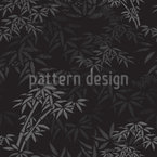 Night In The Bamboo Forest Seamless Vector Pattern Design