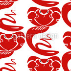 King Cobra Seamless Pattern