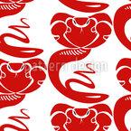 Königskobra Nahtloses Muster