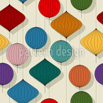 Chinese Lanterns Seamless Vector Pattern Design