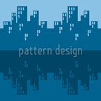 O Blues Skyline Design de padrão vetorial sem costura