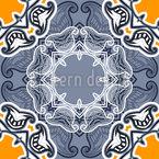 Winter Sun Floral Seamless Vector Pattern Design