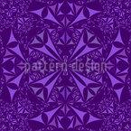 Amethyst Kaleidoskop Nahtloses Vektormuster