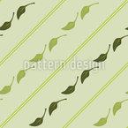 Blätter Und Streifen Rapportmuster