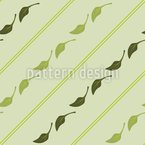 Leaves And Stripes Repeat Pattern