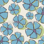 Emily Draws Forget Me Nots Seamless Vector Pattern Design