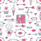Love And Other Things Seamless Vector Pattern Design