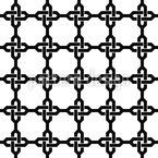 Oriental Chain Crosses Seamless Vector Pattern