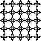 Orientalische Ketten Kreuze Nahtloses Vektor Muster