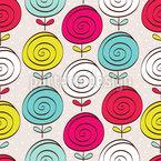Lollipop Blumen Nahtloses Vektormuster