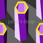 Pilares hexagonales Estampado Vectorial Sin Costura