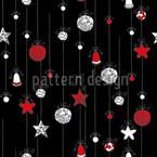 Verschnörkelte Weihnachtskugeln Nahtloses Vektormuster