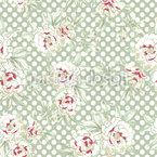 Rosen Und Polkadots Muster Design