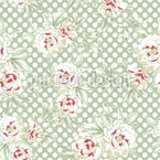 Roses And Polkadots Seamless Vector Pattern Design