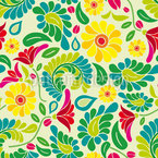Polish Flower Dream Seamless Vector Pattern Design