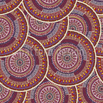 Ethno Mandalas Seamless Vector Pattern Design