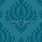 Petrol Baroque Seamless Vector Pattern Design