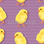 Chicks Dot Com Seamless Vector Pattern Design