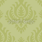 Green Baroque Seamless Vector Pattern Design