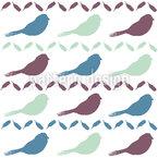 Vogel Und Feder Nahtloses Vektormuster