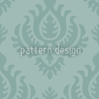 Aqua Baroque Seamless Vector Pattern Design
