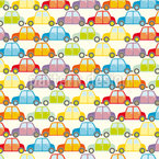 Cars Jam Southbound Seamless Vector Pattern Design
