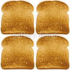 Toast In The Morning Seamless Vector Pattern Design