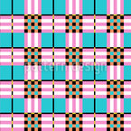 Tartan In Miami Seamless Vector Pattern Design