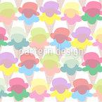 Eiscreme Für Alle Vektor Muster