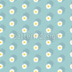 Field Of Daisies Seamless Vector Pattern Design