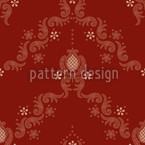 Floral Baroque Red Seamless Vector Pattern Design
