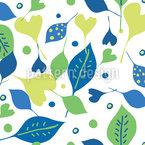 Fröhlicher Blatt Mix Muster Design
