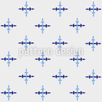 Icicle Crosses Seamless Vector Pattern Design